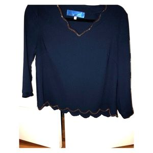 Navy blue lightly worn Francescas top
